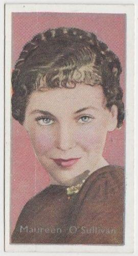 Maureen O'Sullivan 1936 Carreras Film Stars by Desmond Tobacco Card #14