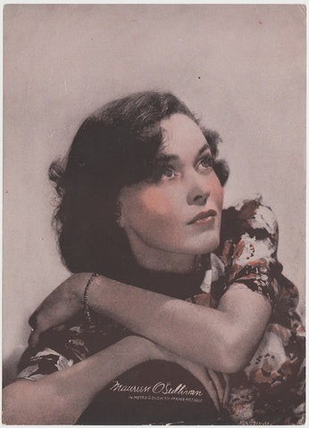 Maureen O'Sullivan 1934 Godfrey Phillips Stars of the Screen Tobacco Card #22