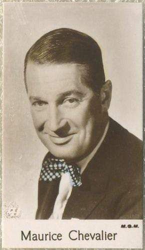 Maurice Chevalier 1935 Bridgewater Film Stars Small Trading Card - Series 4 #41