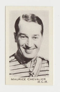 Maurice Chevalier 1934 Salem Goldfilm Movie Star Tobacco Card #325