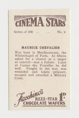 Maurice Chevalier 1930s Vintage ROSS Film Stars Real Photo Trading Card