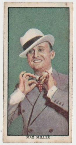 Max Miller 1939 Mars Confections Famous Film Stars Trading Card #36