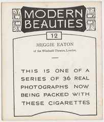 Meggie Eaton 1938 BAT Modern Beauties LG Trading Card #12