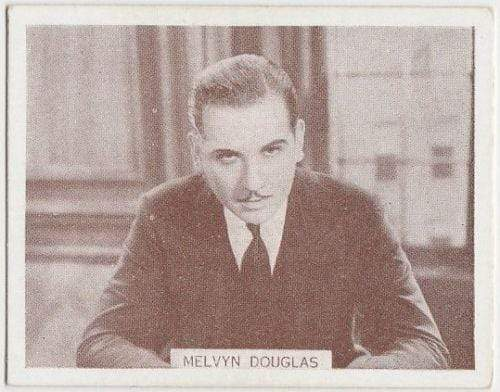 Melvyn Douglas 1934 Wills Famous Film Stars Tobacco Card #82 - Medium
