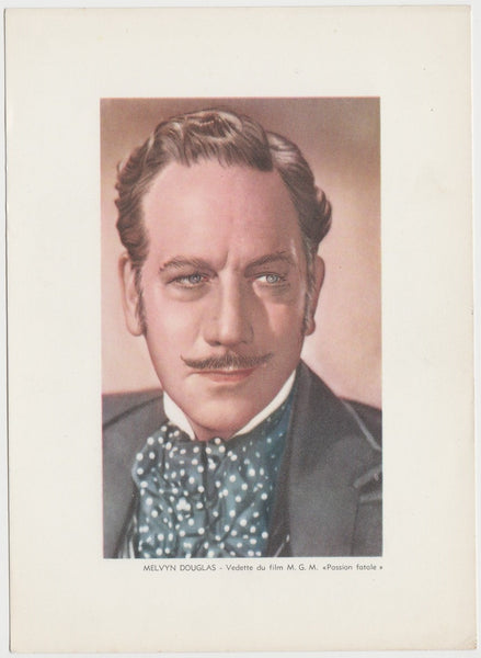 Melvyn Douglas 1938 Transogram Movie Millions Game Card - Film Star