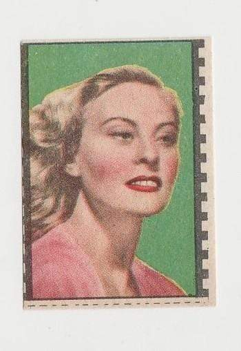 Michele Morgan 1940s Paper Stock Trading Card - Film Frame Design