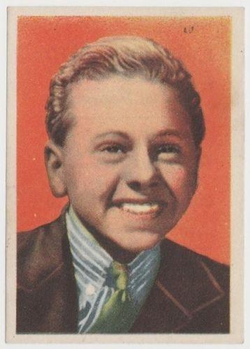 Mickey Rooney 1930s Editorial Bruguera Cinefoto Paper Stock Trading Card #11