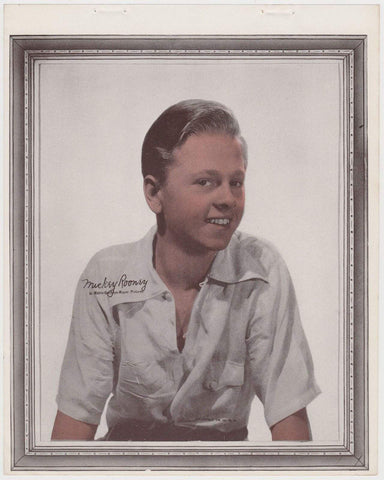Mickey Rooney 1938 Vintage Color Toned Movie Star Premium Photo