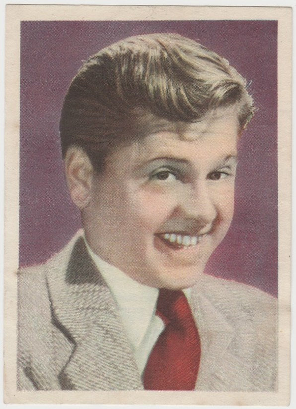 Mickey Rooney 1930s Bruguera Large-Size Paper Stock Trading Card #1