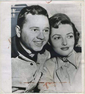 Mickey Rooney and Martha Vickers 1949 Date Stamped Press Photo
