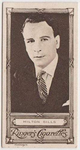 Milton Sills 1923 Edwards Ringer and Bigg Cinema Stars Tobacco Card #6