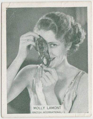 Molly Lamont 1934 ARDATH British Born Film Stars Tobacco Card #30 LARGE