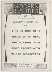 Nancy Carroll 1930s BAT Modern Beauties MD Trading Card Series 2 #41