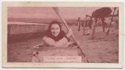 Native Girl from MGMs ESKIMO 1935 Ardath SCENES FROM BIG FILMS Tobacco Card #29