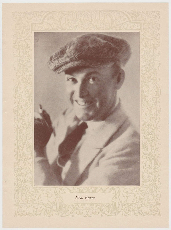 Neal Burns 1923 MPDA Popular Film Folk 8 X 10.75 Printed Photo