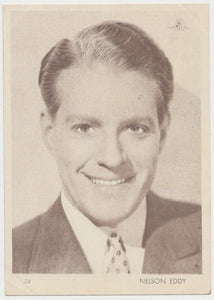 Nelson Eddy 1930s Aguila Large Paper Stock Trading Card #72