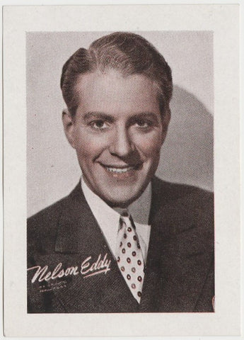 Nelson Eddy 1938 John Player Film Stars Tobacco Card 3rd Series #13