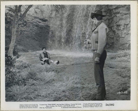 Neville Brand drags Yvonne De Carlo 1956 8x10 STILL PHOTO Raw Edge 1807-29