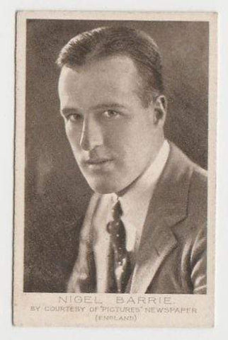 Nigel Barrie 1923 Bucktrout Cinema Stars Tobacco Card #34