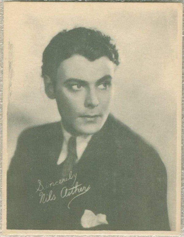 Nils Asther 1920s Kashin Motion Picture Stars Large Trading Card W618