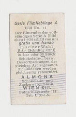 Norma Shearer 1930s ALMONA Film Stars German Trading Card #14