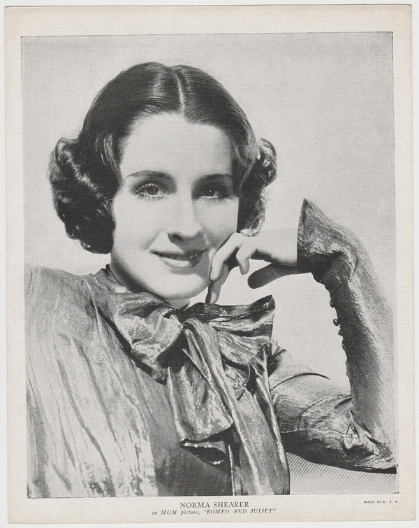 Norma Shearer 1936 R95 8x10 Linen Textured Printed Photo - Vintage Premium