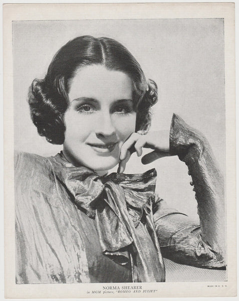 Norma Shearer 1933 Abdulla Cinema Stars Tobacco Card - Blank Back
