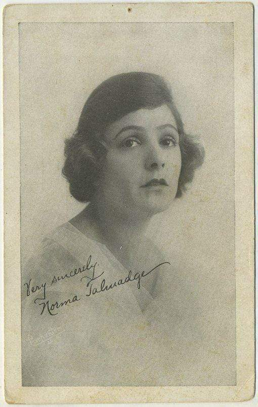 Norma Talmadge Vintage 1920s Postcard Printed in Brooklyn NY