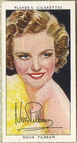 Nova Pilbeam 1938 John Player Film Stars Tobacco Card 3rd Series #37