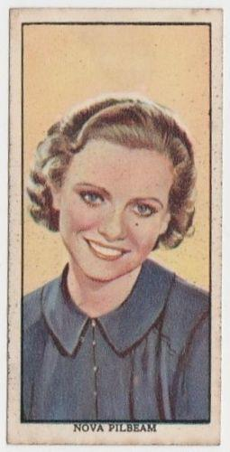 Nova Pilbeam 1939 Mars Confections Famous Film Stars Trading Card #27