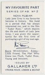 Nova Pilbeam 1939 Gallaher My Favourite Part Trading Card #2