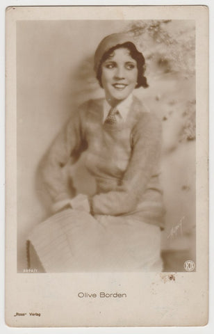 Olive Borden 1920s Kashin Motion Picture Stars Large Trading Card W618