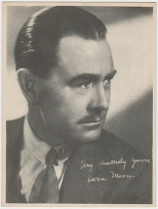 Owen Moore Vintage 1910s Kromo Gravure Trading Card - Rounded Border Type