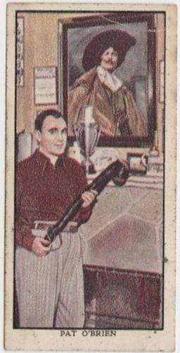 Pat O'Brien 1939 Mars Confections Famous Film Stars Trading Card #30