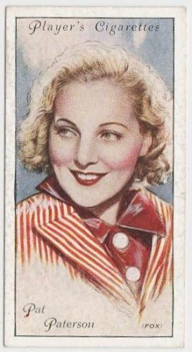 Pat Paterson 1934 John Player Film Stars Tobacco Card 2nd Series #36