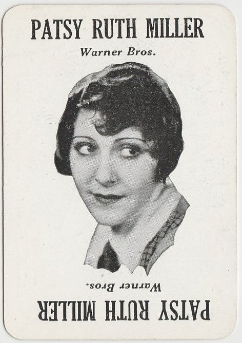 PATSY RUTH MILLER Vintage 1929 Wilder MOVIE-LAND KEENO Game Card