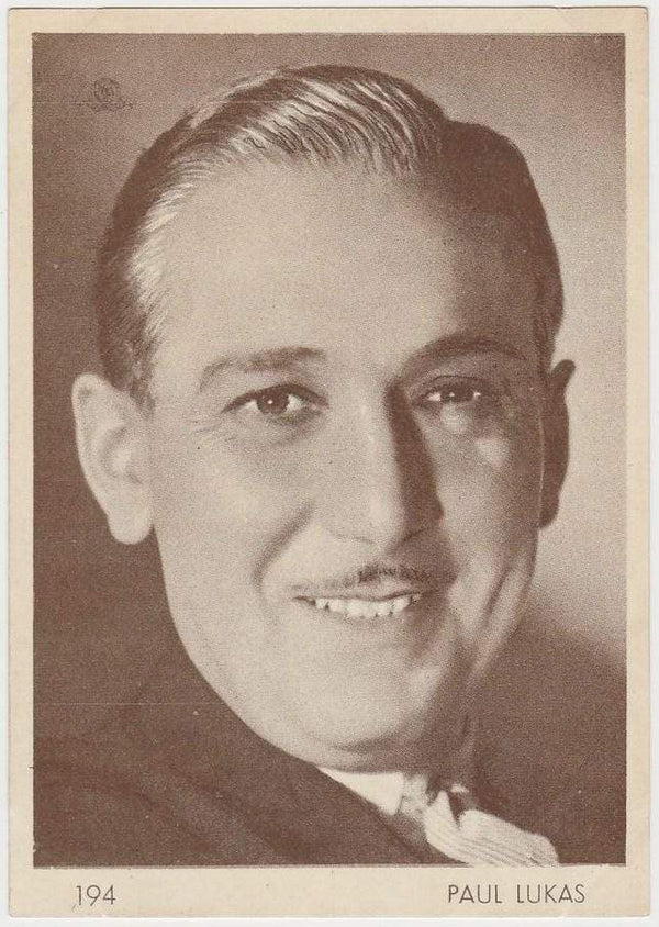 Paul Lukas 1930s Aguila Large Paper Stock Trading Card #194