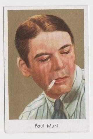 Paul Muni 1934 Salem Goldfilm Movie Star Tobacco Card #366