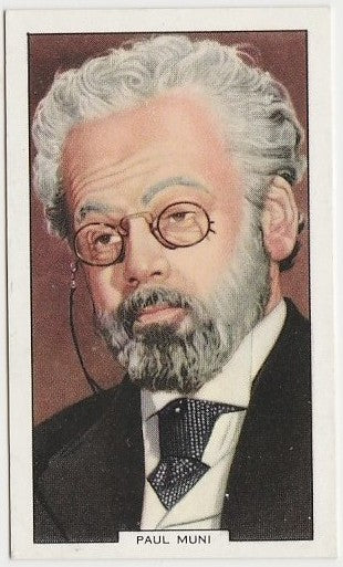 Paul Muni 1938 Carreras Film Favourites Trading Card #21