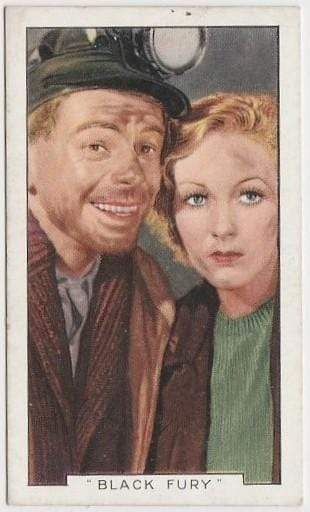 Paul Muni + Karen Morley 1936 Gallaher Film Episodes Tobacco Card #15