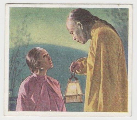 Paul Muni + Luise Rainer 1939 Godfrey Phillips Love Scenes Tobacco Card FLS #12