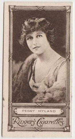 Peggy Hyland 1923 Edwards Ringer and Bigg Cinema Star Tobacco Card #36