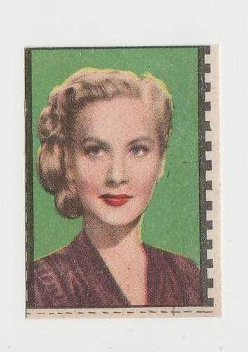 Penny Edwards 1940s Paper Stock Trading Card - Film Frame Design