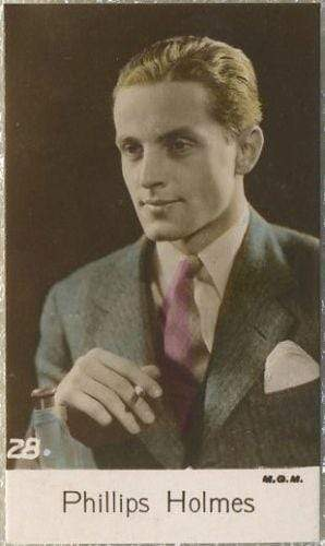 Phillips Holmes 1935 Bridgewater Film Stars Small Trading Card - Series 4 #28