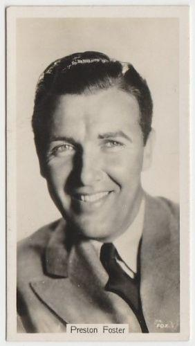 Preston Foster 1937 John Sinclair Film Stars Tobacco Card #24