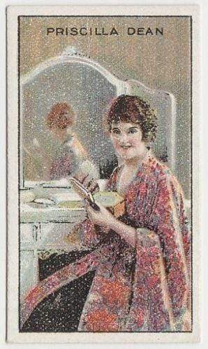 Priscilla Dean 1929 United Tobacco Movie Star Tobacco Card - BAT Flag Back