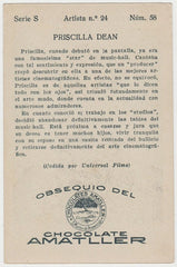 Priscilla Dean 1920s Chocolate Amatller Trading Card from Spain #S-24-58