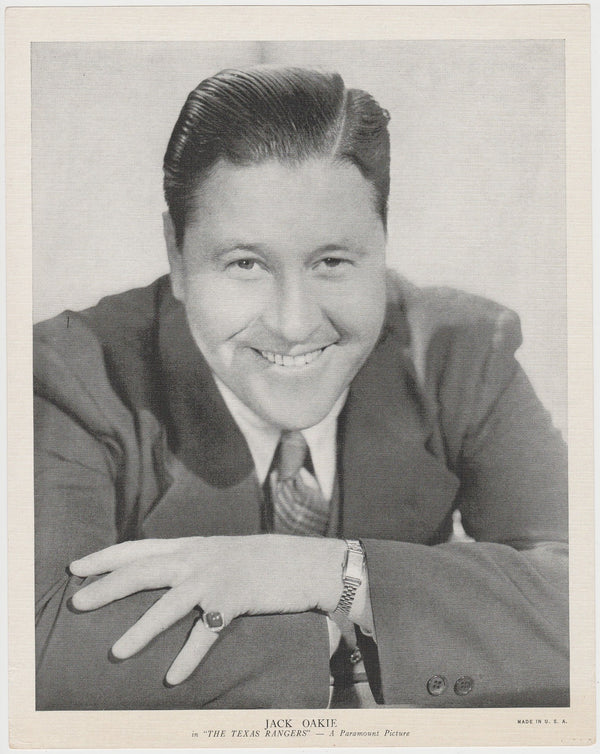 Jack Oakie 1936 R95 8x10 Linen Textured Premium Photo - THE TEXAS RANGERS