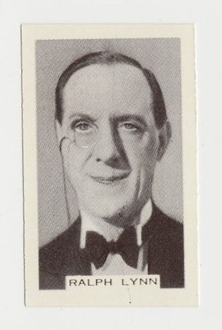 Ralph Lynn 1934 John Player Film Stars Tobacco Card 1st Series #35