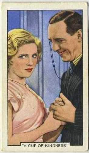 Ralph Lynn + Dorothy Hyson 1935 Gallaher Movie Star Tobacco Card #2
